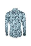 Pretty Green Mens Blue Classic Fit Paisley Print Shirt