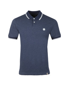 Pretty Green Mens Blue Tipped Collar Polo Shirt