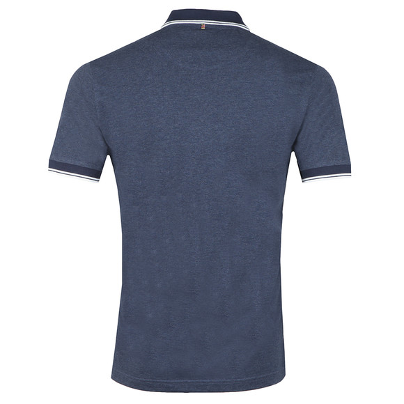 Pretty Green Mens Blue Tipped Collar Polo Shirt main image