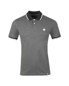 Pretty Green Mens Grey Tipped Collar Polo Shirt