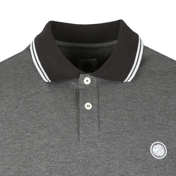 Pretty Green Mens Grey Tipped Collar Polo Shirt main image
