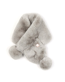 Ted Baker Womens Grey Zalie Faux Fur  Pom Pom  Snood