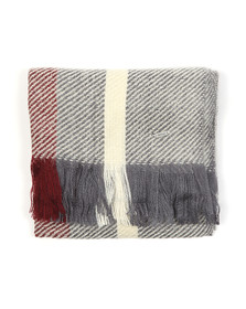 Barbour Lifestyle Womens Grey Munro Scarf