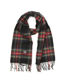 Fred Perry Mens Black Stewart Tartan Scarf