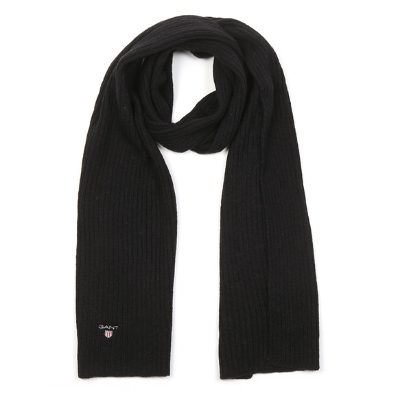 Gant Mens Black Wool Knit Scarf main image