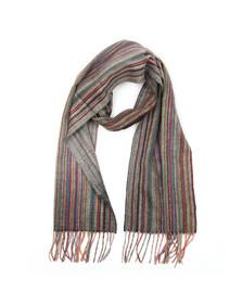 PS Paul Smith Mens Multicoloured Multi Stripe Cashmere Scarf