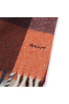 Gant Mens Orange Multicheck Scarf