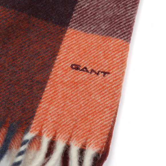 Gant Mens Orange Multicheck Scarf main image