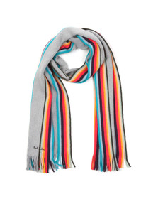 PS Paul Smith Mens Multicoloured Twisted Artist Scarf