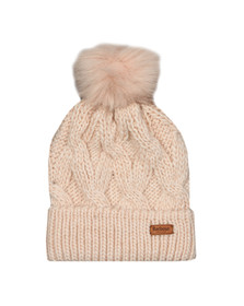 Barbour International Womens Pink Bridport Pom Hat