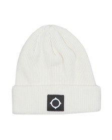 Ma.Strum Mens White Merino Icon Watch Hat