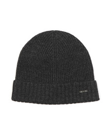 BOSS Mens Grey Fati 03 Knitted Beanie Hat