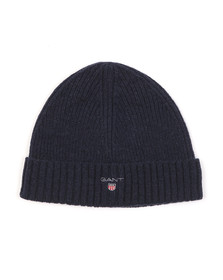 Gant Mens Blue Wool Beanie