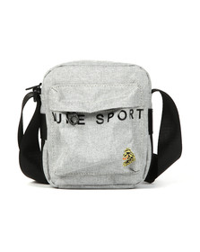 Luke Sport Mens Grey Trott Reflective Print Cross Body Bag