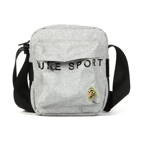 Luke Sport Mens Grey Trott Reflective Print Cross Body Bag main image