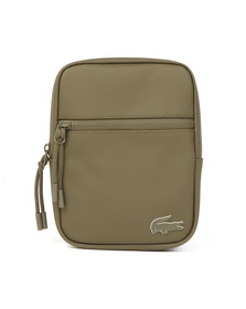 Lacoste Mens Green S Flat Crossover Bag