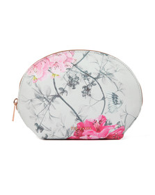 Ted Baker Womens Grey Sabina Babylon Dome Make Up Bag