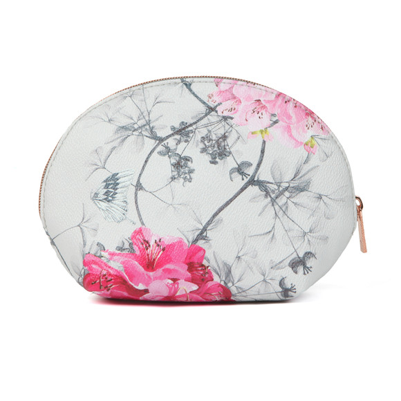 Ted Baker Womens Grey Sabina Babylon Dome Make Up Bag main image