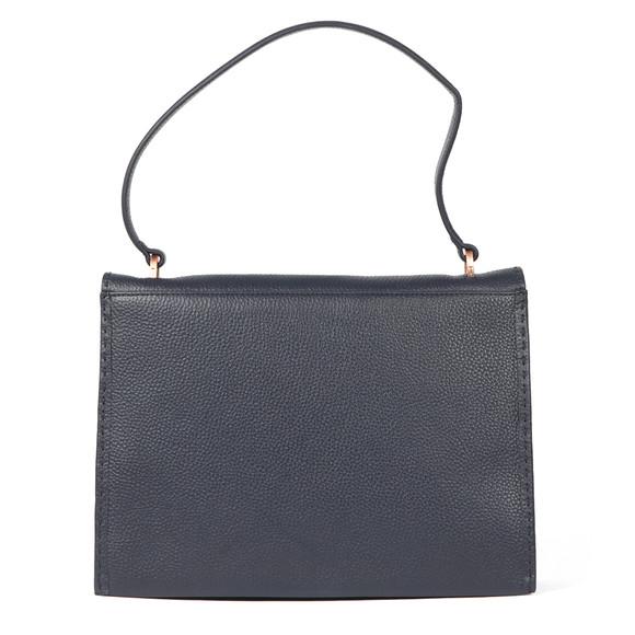 Ted Baker Womens Blue Jessi Concertina Leather Shoulder Bag