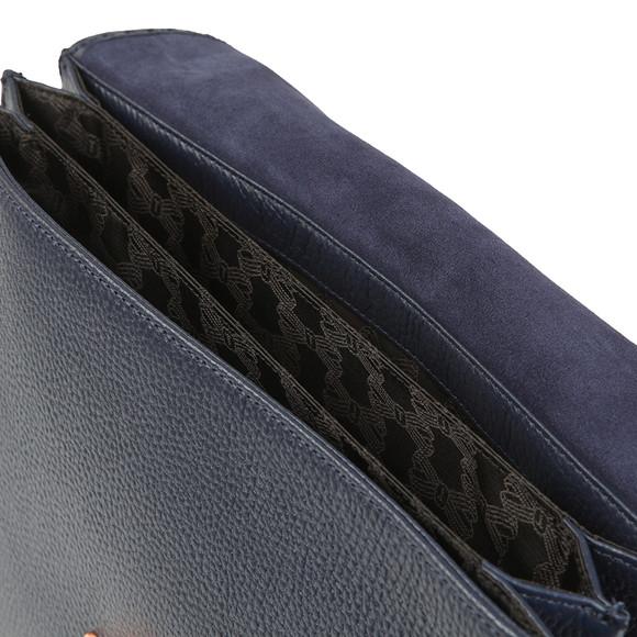 a5c8003a513f Ted Baker Womens Blue Jessi Concertina Leather Shoulder Bag main image
