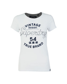 Superdry Womens White Rope Applique Entry Tee