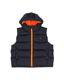 Paul & Shark Boys Blue Boys Hood Padded Gilet