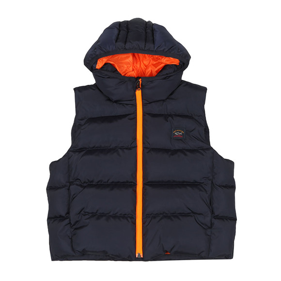 Paul & Shark Cadets Boys Blue Hood Padded Gilet main image
