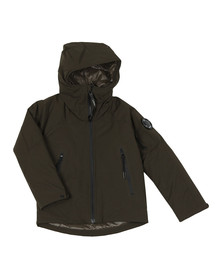 C.P. Company Undersixteen Boys Grey Hooded Protek Jacket