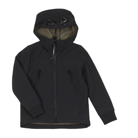 C.P. Company Undersixteen Boys Blue Soft Shell Goggle Hooded Jacket main image