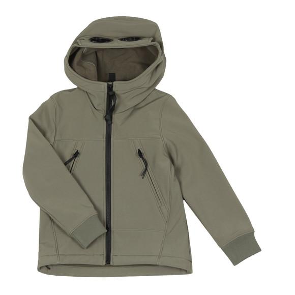 C.P. Company Undersixteen Boys Green Soft Shell Goggle Hooded Jacket