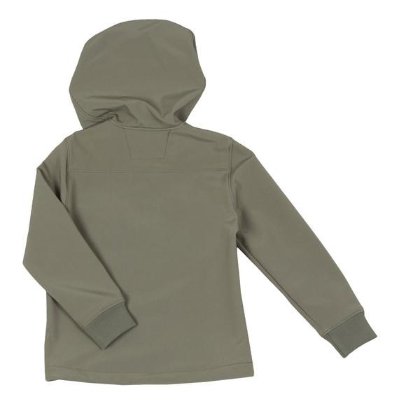 C.P. Company Undersixteen Boys Green Soft Shell Goggle Hooded Jacket main image