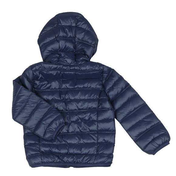EA7 Emporio Armani Boys Blue Hooded Down Jacket main image