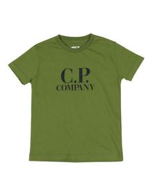 C.P. Company Undersixteen Boys Green Printed Goggle T Shirt