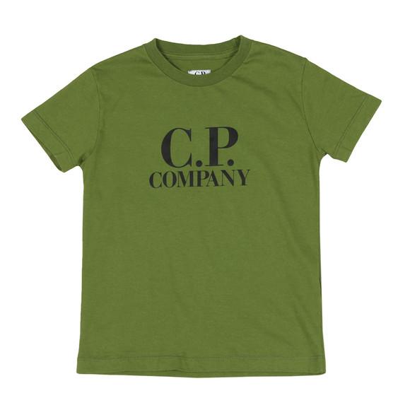 C.P. Company Undersixteen Boys Green Printed Goggle T Shirt main image