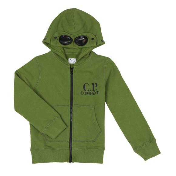 C.P. Company Undersixteen Boys Green Full Zip Goggle Hoody main image