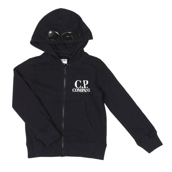 C.P. Company Undersixteen Boys Blue Full Zip Goggle Hoody main image