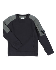 C.P. Company Undersixteen Boys Blue Viewfinder Mix Sweatshirt