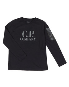 C.P. Company Undersixteen Boys Blue Printed Viewfinder Long Sleeve T Shirt