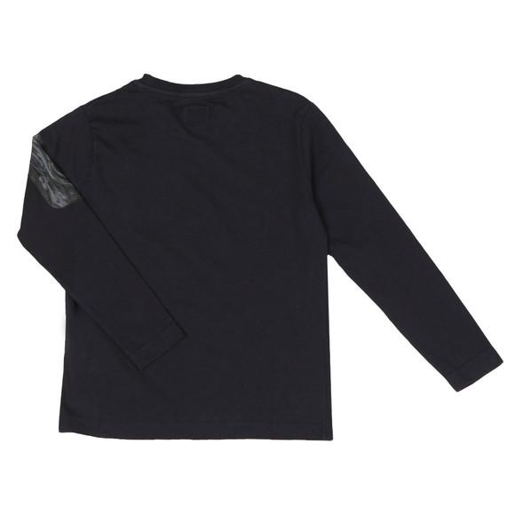 C.P. Company Undersixteen Boys Blue Printed Viewfinder Long Sleeve T Shirt main image