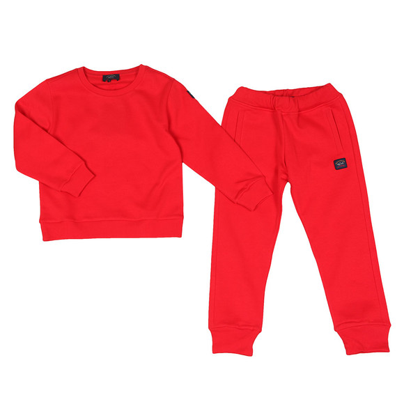 Paul & Shark Cadets Boys Red Boys Tracksuit main image