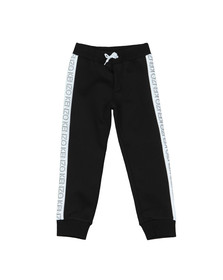 Kenzo Kids Boys Black Tape Logo Sweatpant