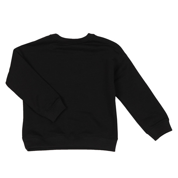 Kenzo Kids Girls Black Embroidered Tiger Sweatshirt