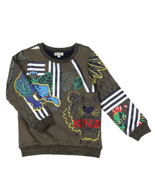 Kenzo Kids Boys Green Boys Fantastic Jungle Sweatshirt