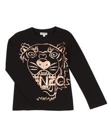 Kenzo Kids Girls Black Large Tiger Print Long Sleeve T Shirt