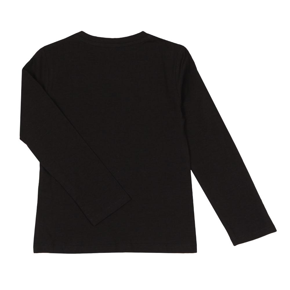 1b9feaa5535 Kenzo Kids Girls Black Large Tiger Print Long Sleeve T Shirt