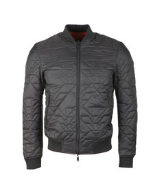 Emporio Armani Mens Grey 6Z1B96 Eagle Quilted Jacket