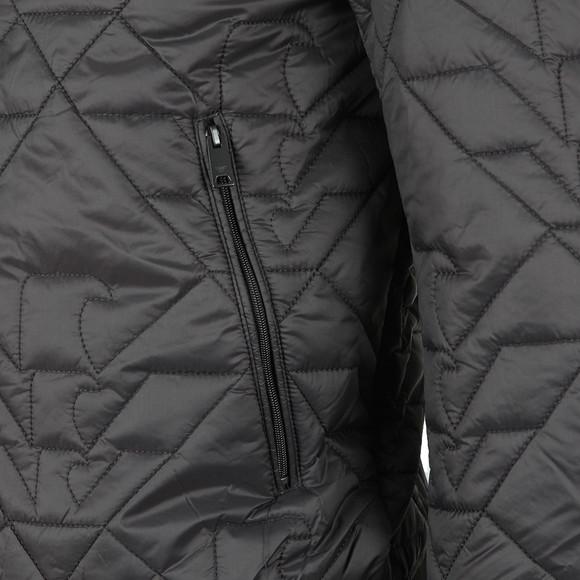 Emporio Armani Mens Grey 6Z1B96 Eagle Quilted Jacket main image