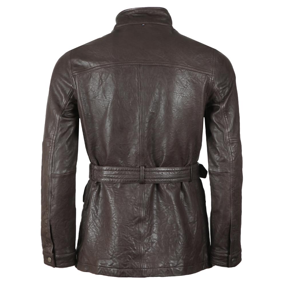 Leather Zip Through Jacket main image