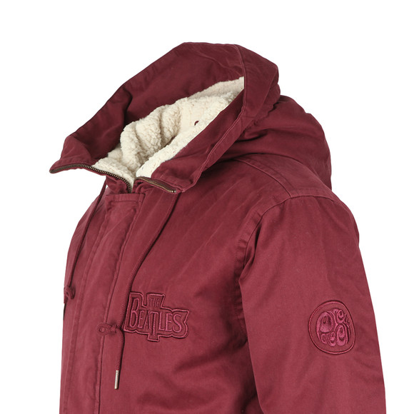 Pretty Green Mens Red Beatles White Album Parka main image