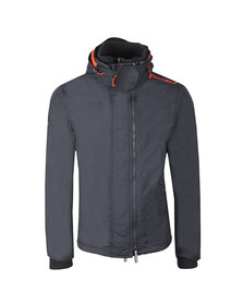 Superdry Mens Black Arctic Hooded Pop Zip Windcheater